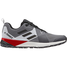 adidas TERREX Two Scarpe Uomo, grey three/core black/active red